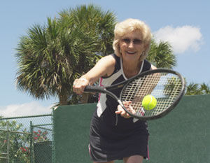 Hip surgery doesn't stop Clearwater tennis player