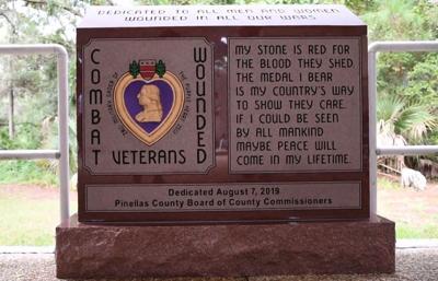 Pinellas County unveils Purple Heart monument at War Veterans' Memorial Park