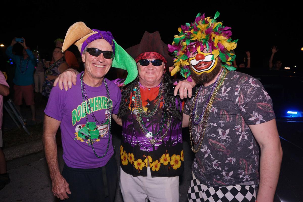 Showing off Mardi Gras spirit