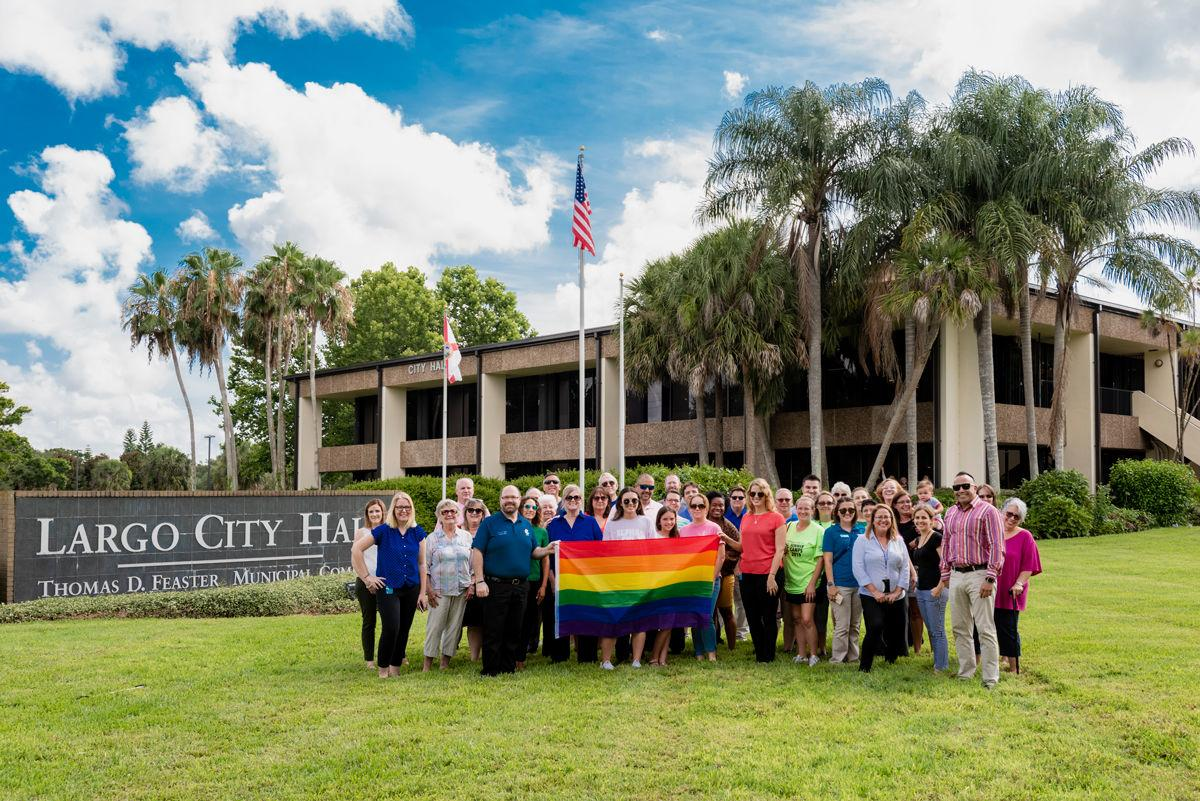 Raising of Pride flag at Largo City Hall prompts discussion about diversity