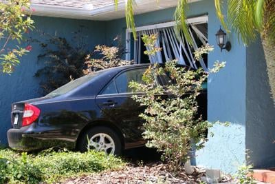 Out-of-control vehicle crashes into Clearwater house