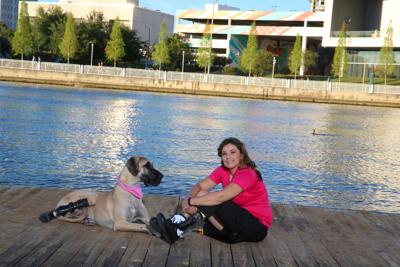 Overcoming obstacles – war survivor and her Great Dane inspire others