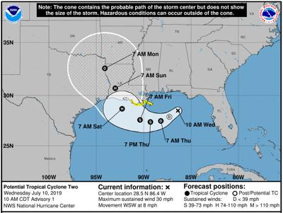 potential cyclone 2 forms in Gulf, no threat to Pinellas