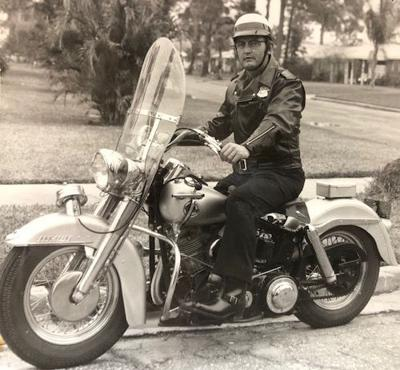 Dunedin's first motorcycle patrolman