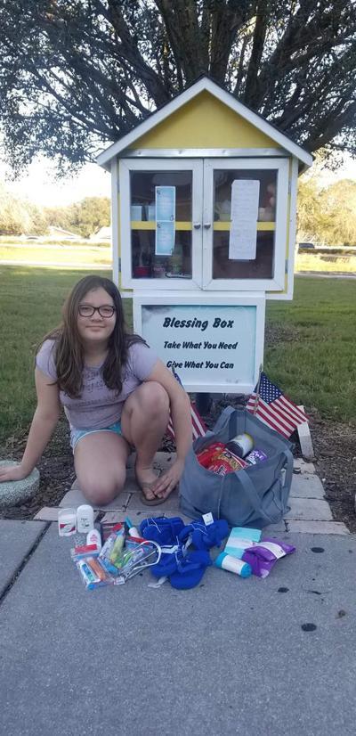 Bardmoor third-grader Blessing Box