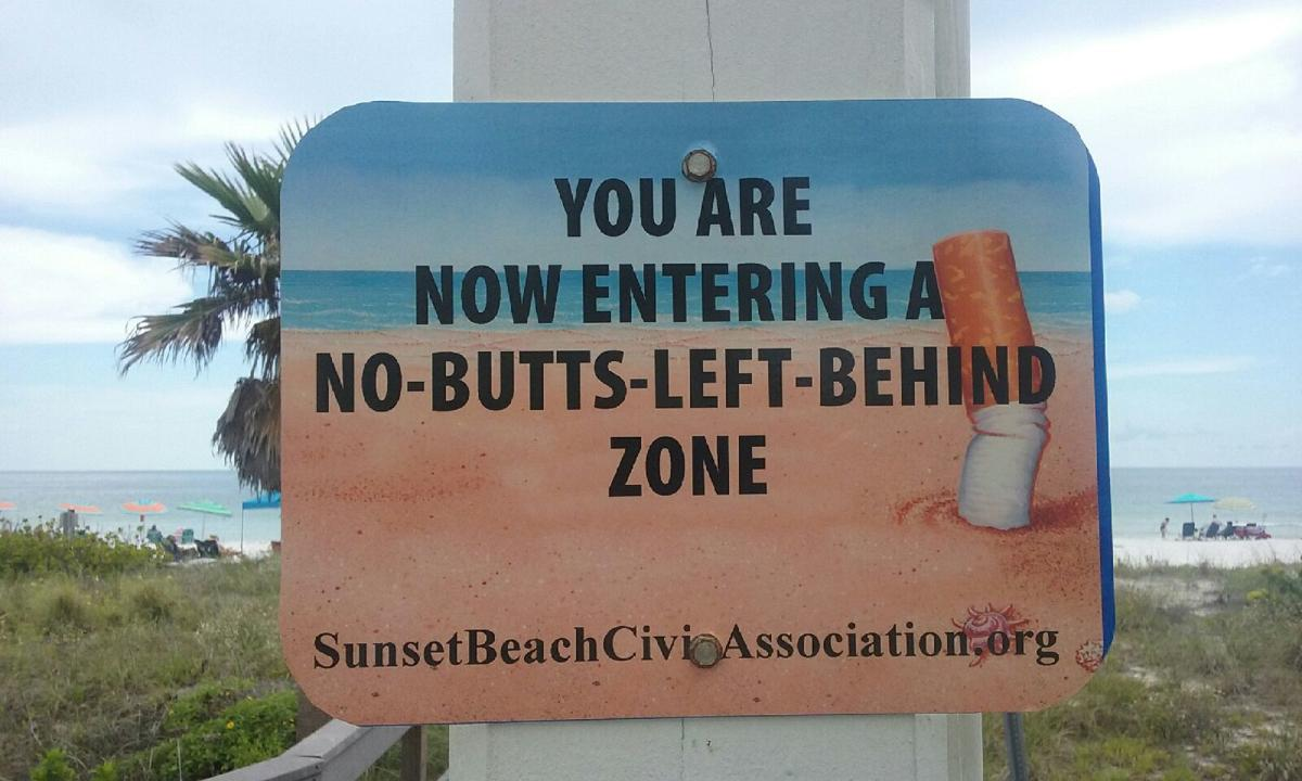 Sunset Beach Civic Association cleans up beach with touch of humor