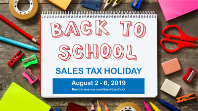 Back-to-school sales tax holiday runs Aug. 2-6