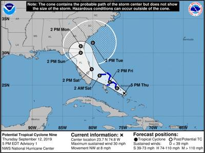 Potential cyclone could bring rain and wind to Pinellas