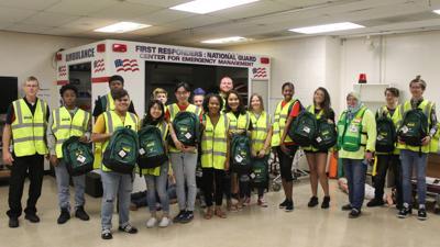 Students receive TEEN CERT equipment bags in first-year program