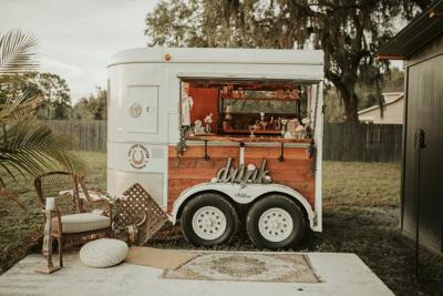 Seminole entrepreneur turns an old horse trailer into a mobile bar