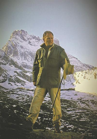 d-happenings072221-FCA John Prevas in the Alps ready to climb Hannibal's Pass