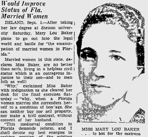 Mary Lou Baker inducted into Florida Women's Hall of Fame