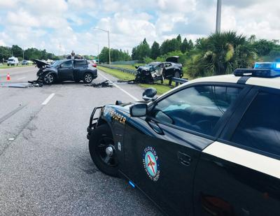 Three injured in two-vehicle crash on McMullen Booth Road