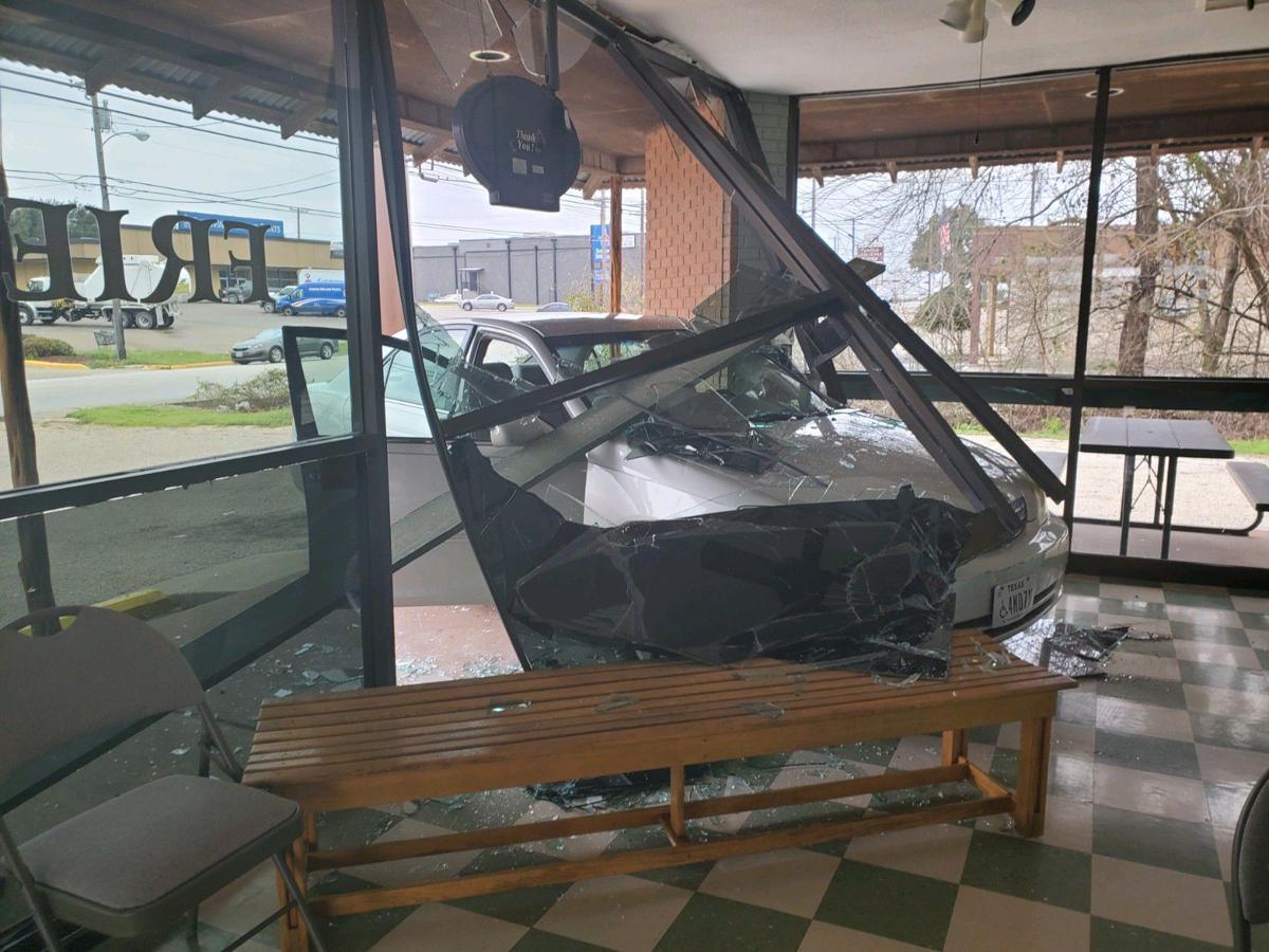 Damaged restaurant