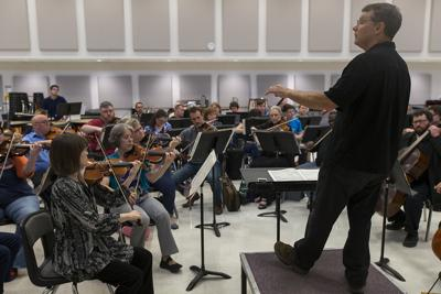 Temple Symphony rehearsal