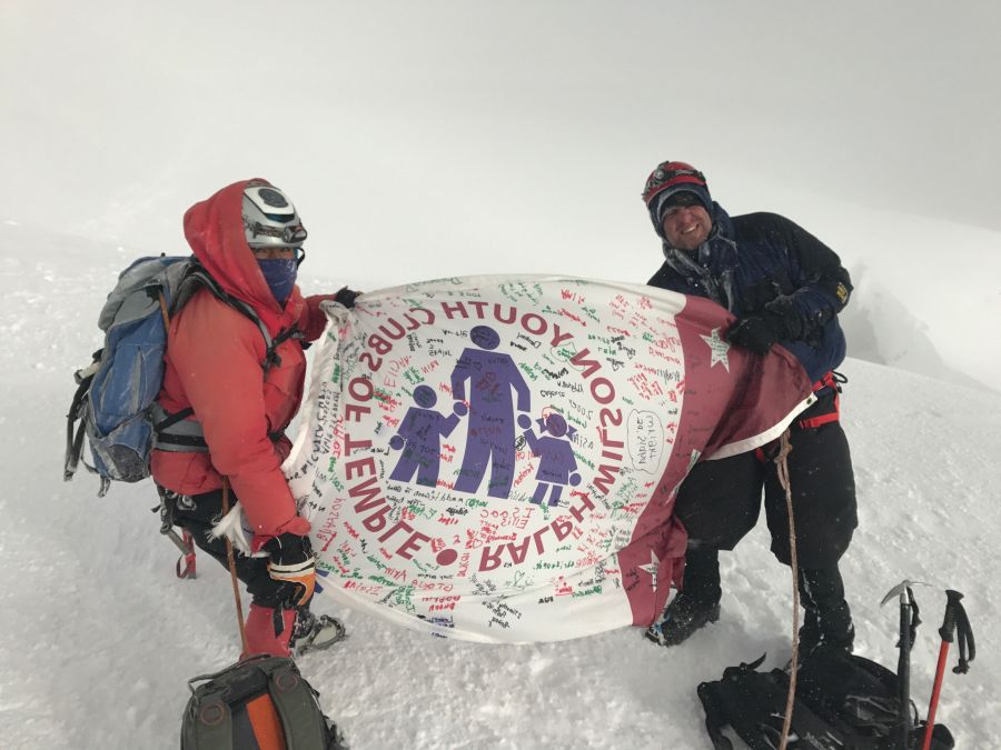 At the summit
