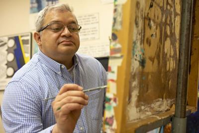 TC biology professor thriving in art class