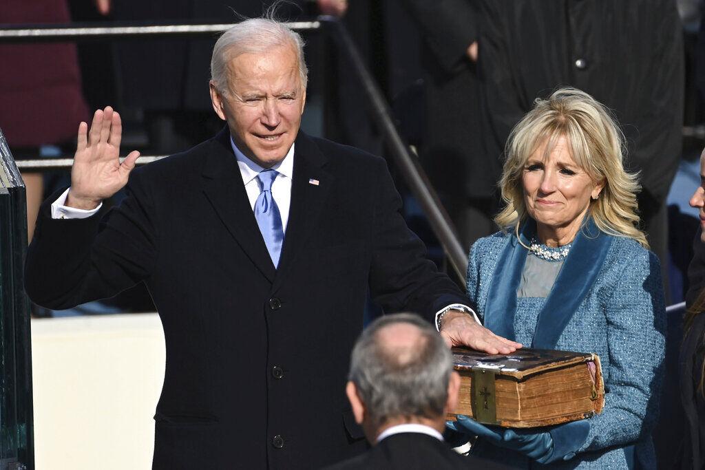 Joe Biden is sworn in