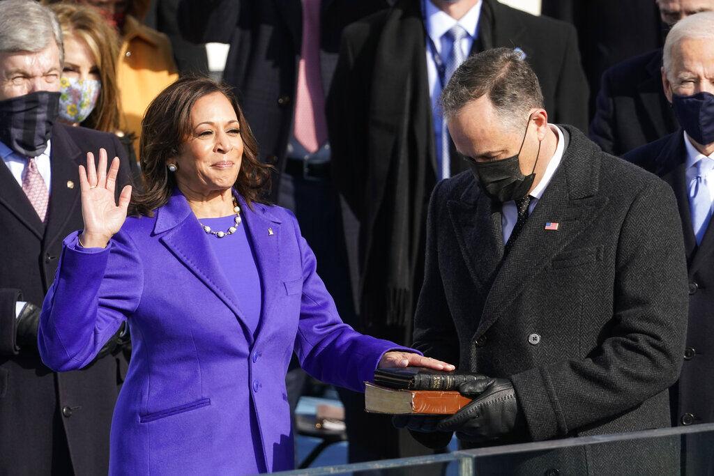 Kamala Harris is sworn in