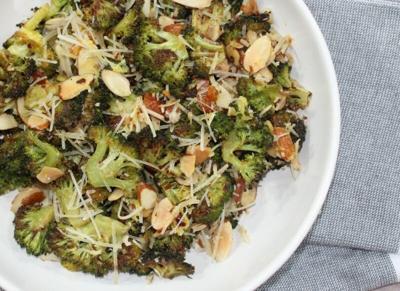 Lemon almond roasted broccoli