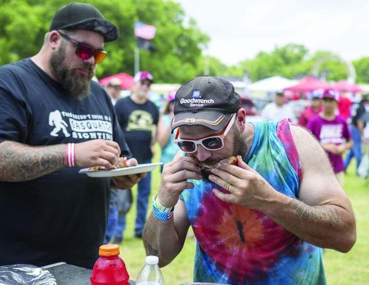 Rib-eating contest