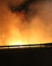 I-35 fire