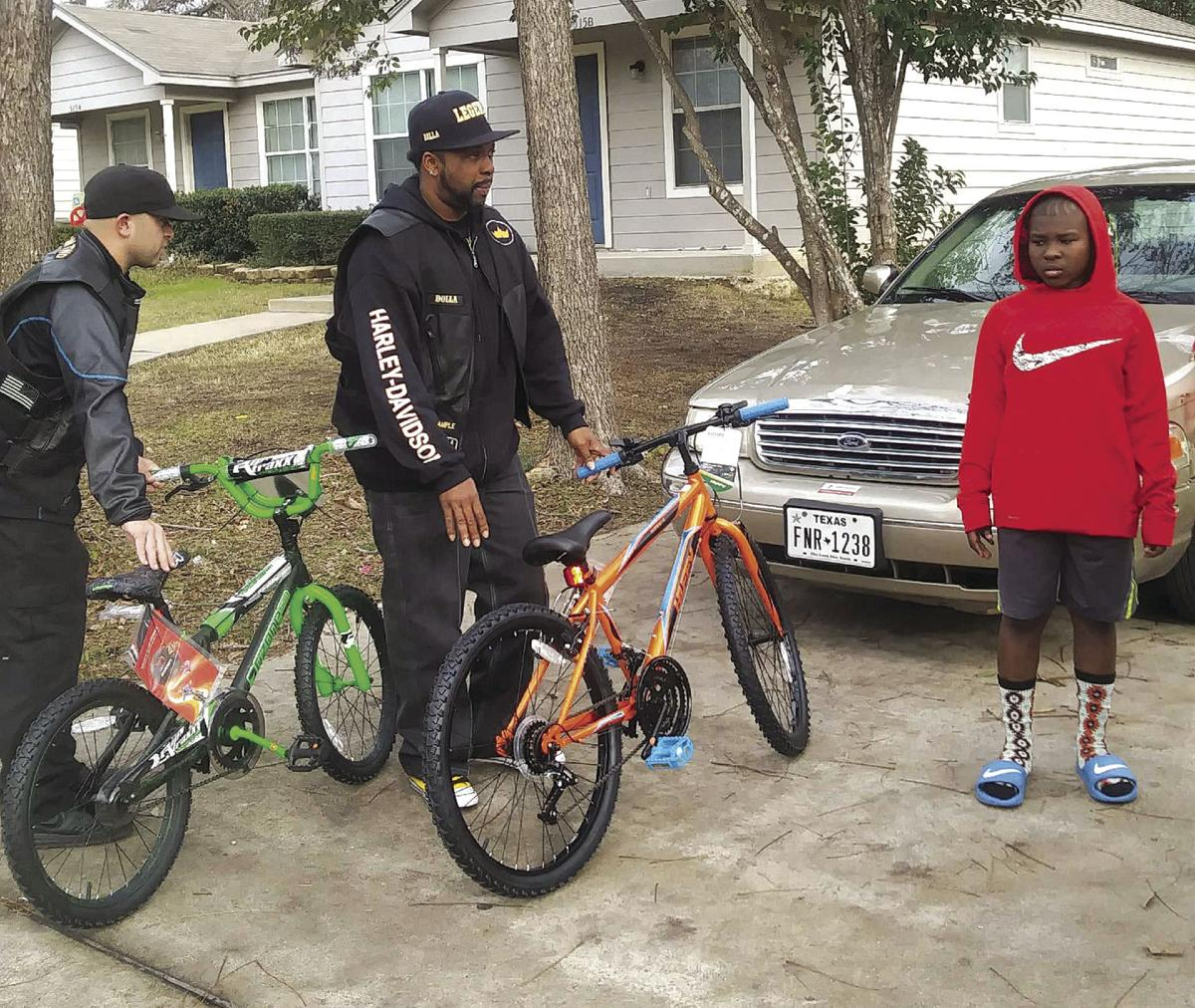Biker club brings gifts for boys who lost mother | News | tdtnews.com