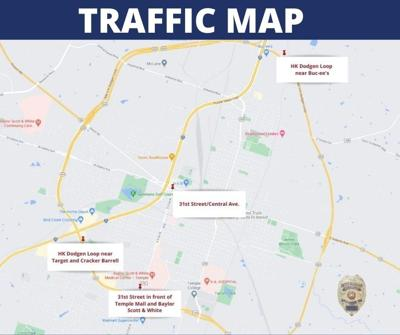 Temple crash map