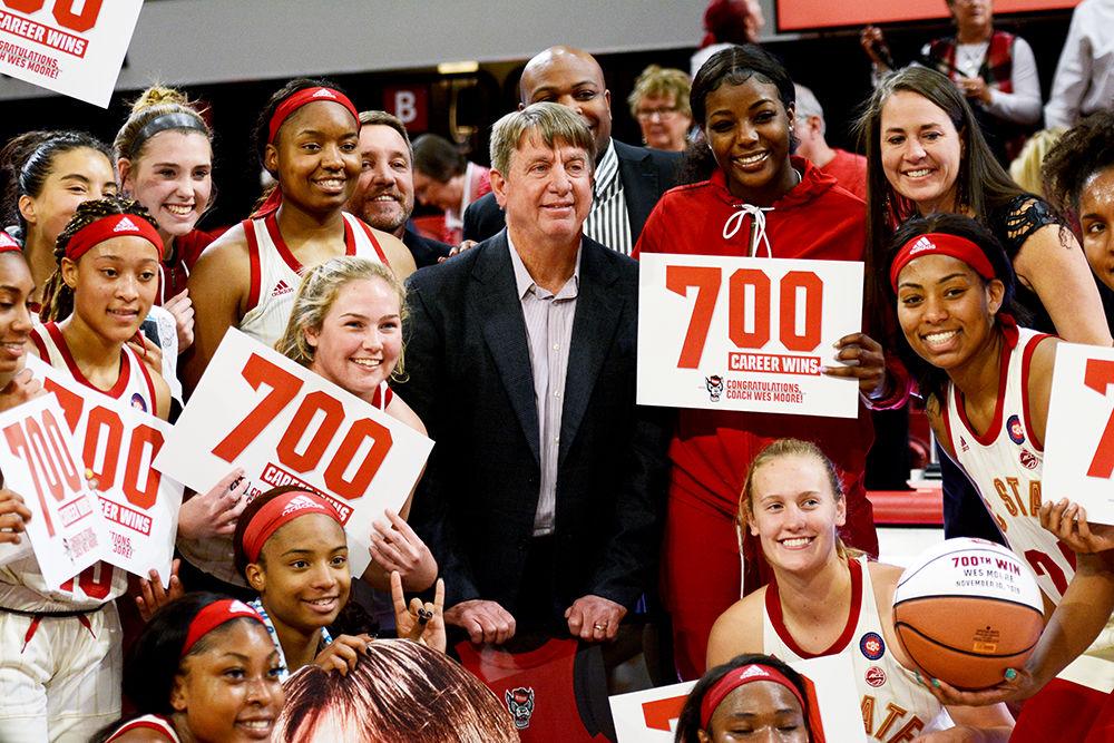 Coach Wes Moore celebrates 700 career wins