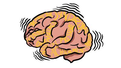 Grad Student Mental Health Brain Graphic