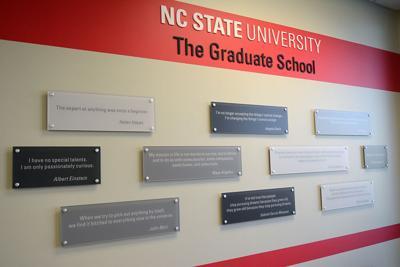 Wall Plaque at Graduate School Office