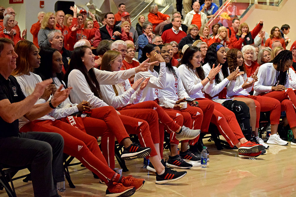WBB Selection Show Team Celebrates