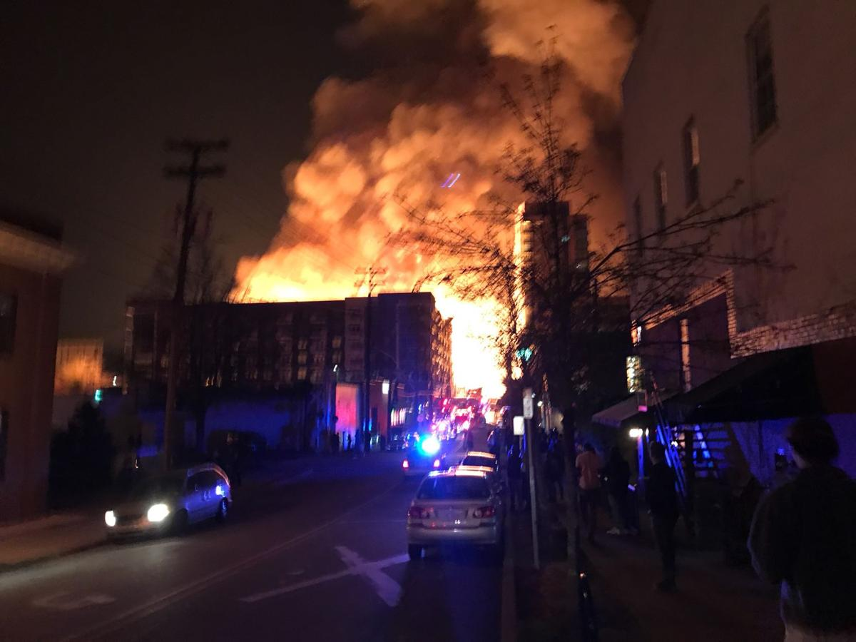 A Fire Broke Out In Downtown Raleigh Around 10 P M