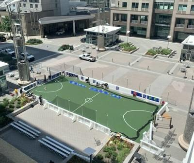 Downtown soccer pop up
