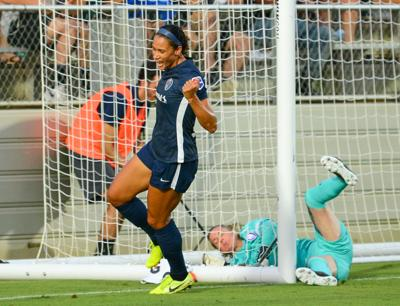 Lynn Williams Celebrates Goal