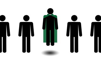Green Cape Guy Graphic