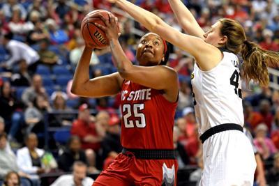 Kayla Jones Attacks Basket