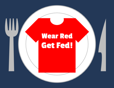 Wear Red, Get Fed Graphic