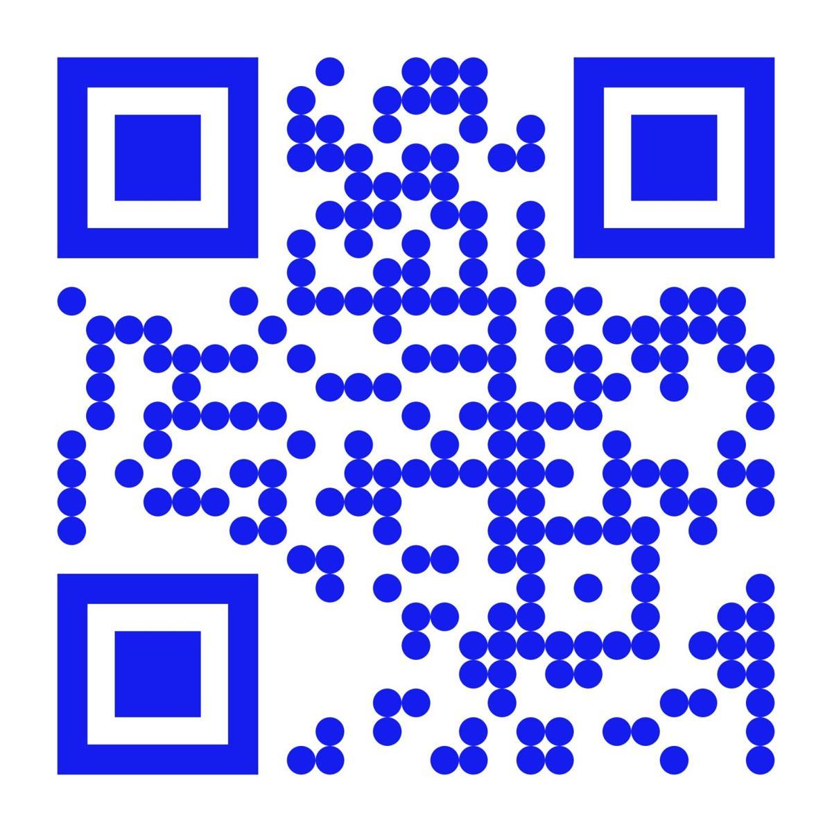 blue QR code