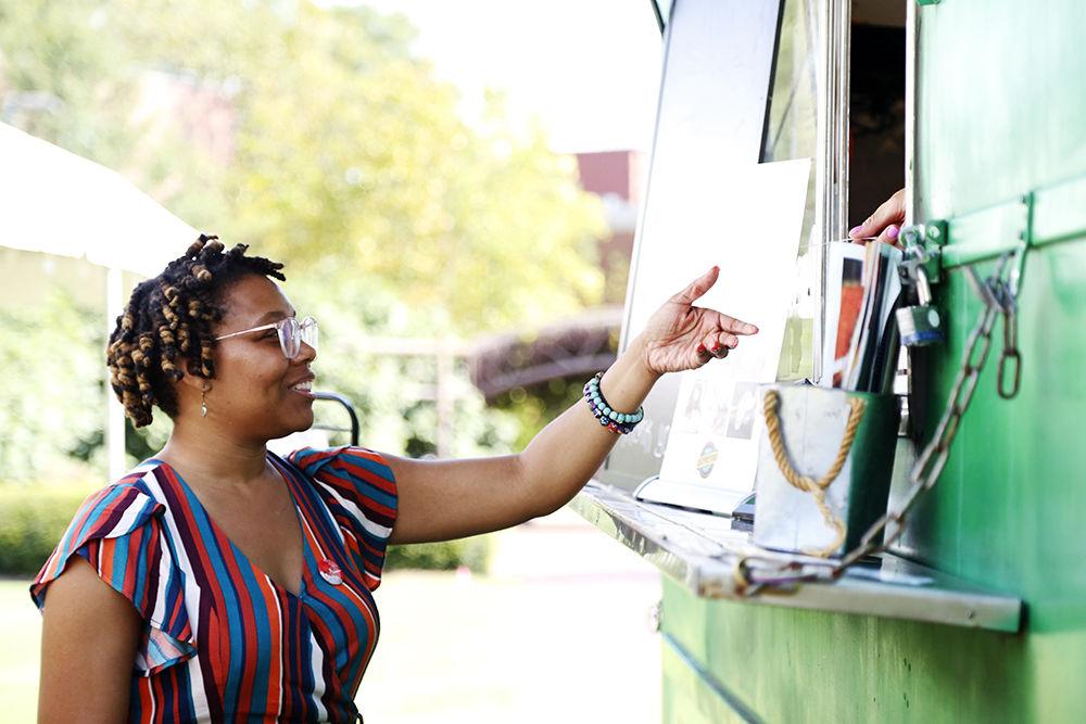 Food Truck Handing Food