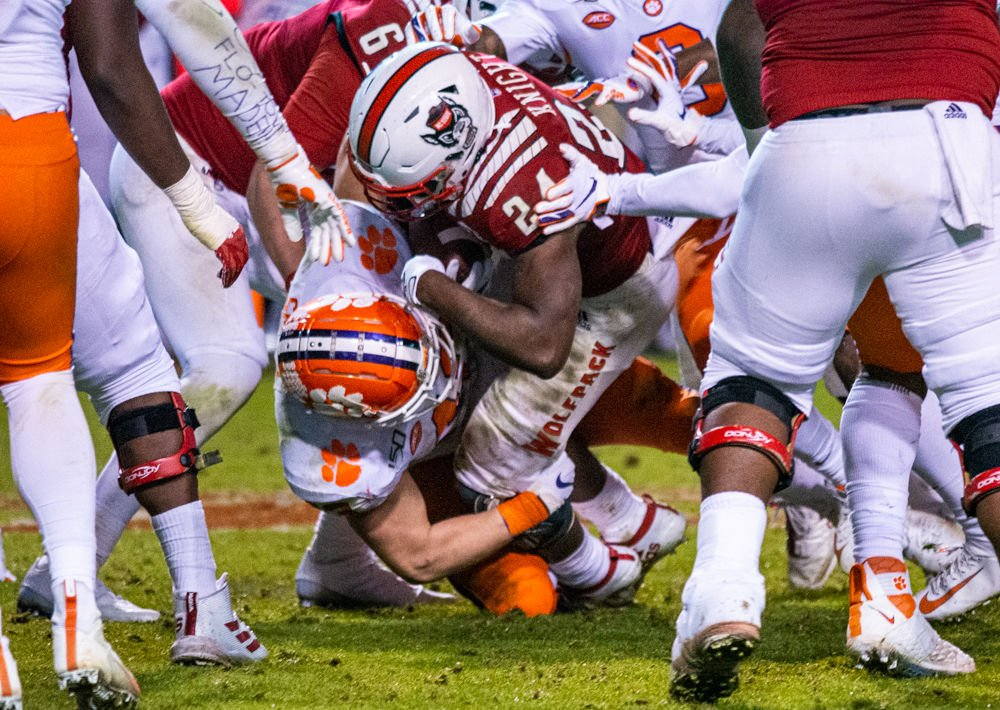 Knight tackled