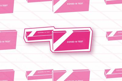covid tests on campus graphic