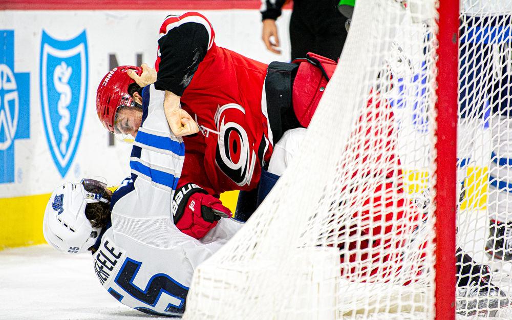 Brett Pesce Fights Winnipeg