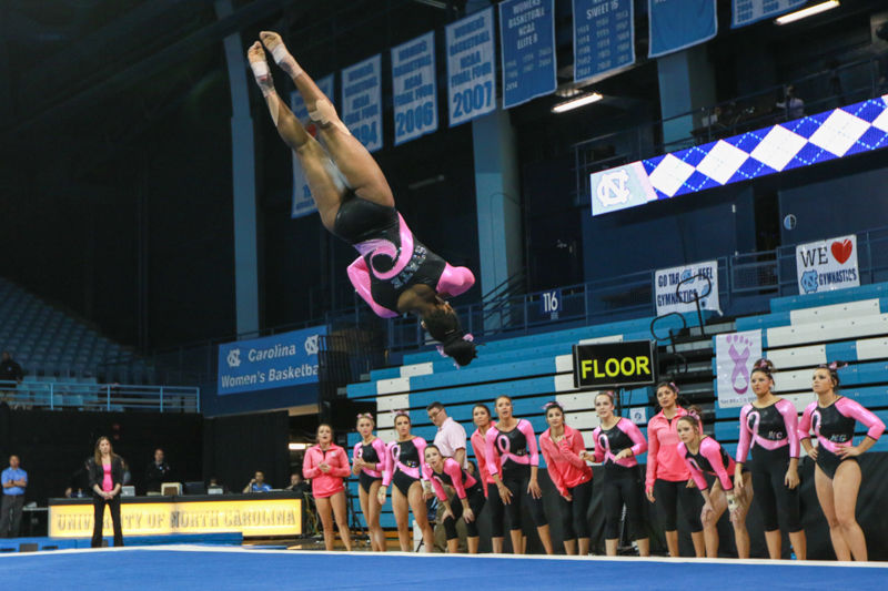 Gymnastics vs UNC and William & Mary