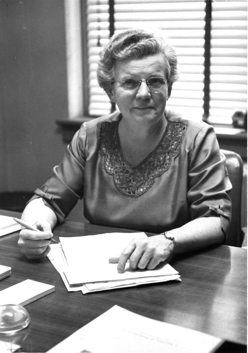Gertrude Cox at Desk