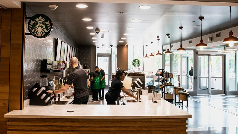 Sideview of Starbucks