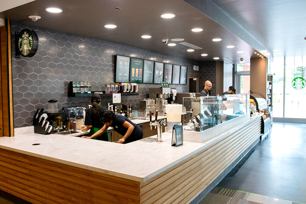 Wide View of Starbucks