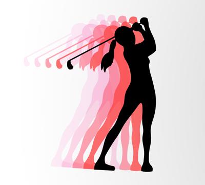 Women's Golf Graphic