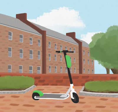 lonely scooter graphic