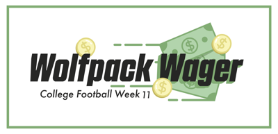 Wolfpack Wager College Week 11 Graphic